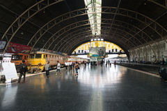 Central Hua Lamphong railway station in Bangkok Royalty Free Stock Image