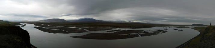 central iceland flod Arkivbild