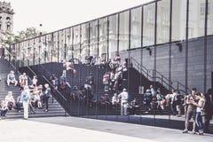 Central ingång för utfärd till parlamentet av Budapest, Ungern Fotografering för Bildbyråer