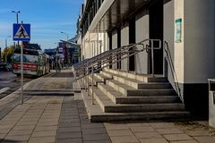 Central ingång till järnvägsstationbyggnaden Fotografering för Bildbyråer