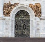Central ingång till templet Arkivbilder