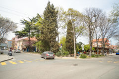 Central intersection in Burgas quarter Sarafovo in Bulgaria Stock Photography