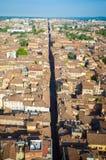 Central italiensk väg för Bologna Royaltyfri Bild