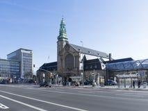 Central järnväg station i Luxembourg Arkivbilder
