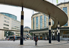 Central järnvägsstation av Bryssel Arkivbilder