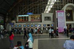 Central järnvägsstation av Thailand, Bangkok Arkivbild