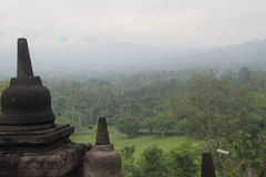 Central Java de Yogyakarta del templo de Borobudur fotografía de archivo libre de regalías