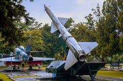 Replica misile of dirgantara museum royalty free stock image