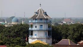Central java Indonesien för Siti torninggil som solo slott är synlig från ett avstånd s Sasana Siti Inggil gjorde högt jämfört me Royaltyfria Foton