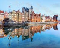 Central kaj av Gdansk, Polen Royaltyfria Bilder