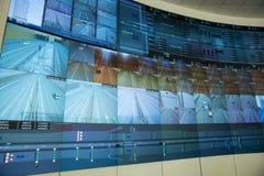Central kontrollbord en biltunnel Arkivbild