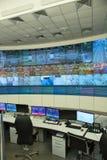 Central kontrollbord en biltunnel Arkivfoto
