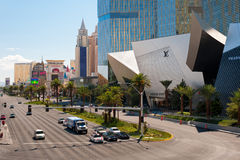 Central Las Vegas road Royalty Free Stock Photos