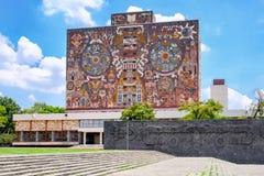 Ã'The National Autonomous University of Mexico. The Central Library at the National Autonomous University of Mexico royalty free stock photo