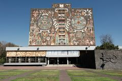 Free Central Library Of The National Autonomous University Of Mexico Royalty Free Stock Photo - 139501735