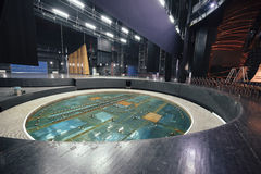 Central lifting platform on theatre stage Stock Image