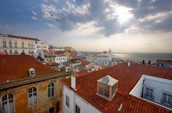 Central Lisbon Royalty Free Stock Image