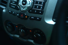 Central locking button on the control panel.  Stock Photos