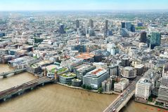 Central London buildings viewed from above Stock Photo