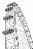 CENTRAL LONDON / ENGLAND - CIRCA AUGUST 2013 - The famous London Eye Stock Photography