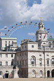 Central London & the Eye. Horser guards parade and the London Eye Royalty Free Stock Images