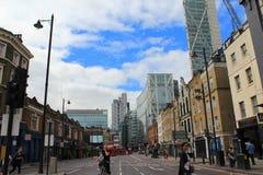 Central London gata England Fotografering för Bildbyråer