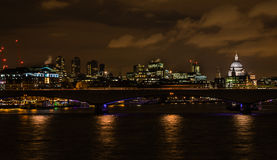 Central London at Night Royalty Free Stock Images