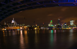 Central London at Night Stock Image