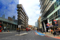 Central London street view England Royalty Free Stock Images