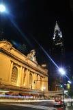 Central magnífica de Nueva York en la noche Imágenes de archivo libres de regalías