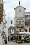 The central main square of Cisternino on Puglia Royalty Free Stock Image