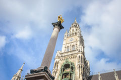 Central Marienplatz square, Germany Stock Image
