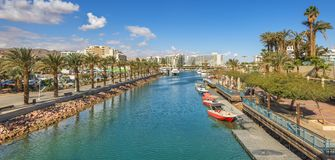 Central marina and promenade in Eilat,  Israel Stock Photo