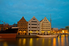 Central Maritime Museum in Gdansk at night Stock Photo