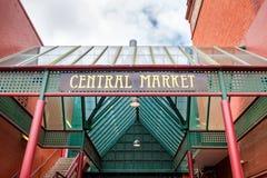 Central market in Adelaide. Central market main entrance gate in Adelaide CBD, South Australia stock image