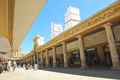 Central market, Cádiz, Andalusia, Spain. Building of Central Market of Cadiz opened in 1838 and remodeled in 2010, specializes in seafood and fish of high Royalty Free Stock Image