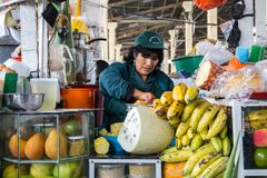 Central market in Cusco, Peru royalty free stock photography