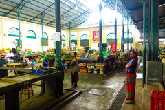 Central market food stalls in Maputo, Mozambique. Food products for sale in Central Market, Maputo, Mozambique. February 2017 Stock Photos