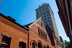 Central Market and Griest Building Royalty Free Stock Photos