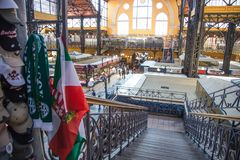 Central Market hall in Budapest stock images