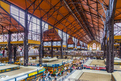 Central Market Hall of Budapest, Interiors. Interiors of Central Market Hall of Budapest, Hungary Royalty Free Stock Photo