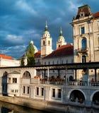 Central Market of Ljubljana Stock Image