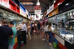 Central Market of Malaga Atarazanas. The central market of the city of Malaga or shipyard market in Andalusia, southern Spain stock photography