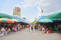 Central Market (Phsar Thmei) Stock Images