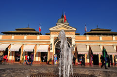 Central Market in Santiago de Chile. Central Market in Chile, Chile royalty free stock photos