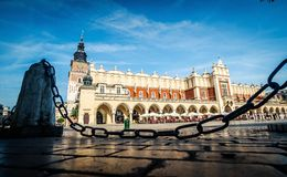 Central market square in Krakow. Poland royalty free stock images