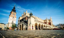 Central market square in Krakow. Poland royalty free stock photos