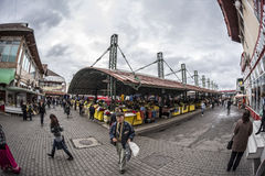 Central Market in Targu-Jiu, 08 october 2014 Royalty Free Stock Images