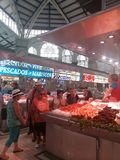 Central market valencia shopping food  bying Royalty Free Stock Image