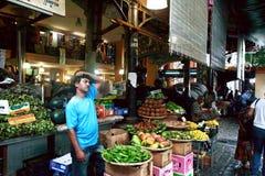 Central marknad av Port Louis, Mauritius Arkivbilder